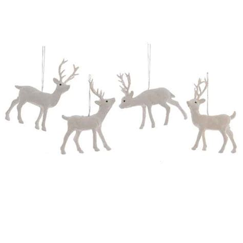 hanging deer christmas lights 4 x white deer reindeer hanging decorations christmas tree