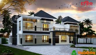 3688 sq ft double floor contemporary home design veeduonline