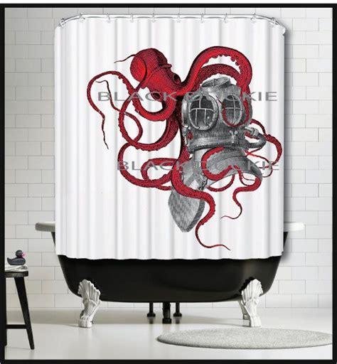 cbgb shower curtain 1000 ideas about octopus shower curtains on pinterest