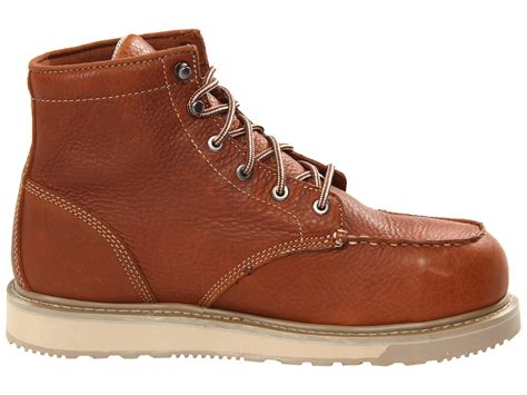 timberland barstow wedge safety toe in brown for lyst