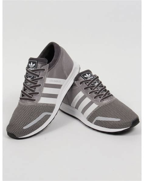 Adidas Grey adidas los angeles trainers solid grey white originals