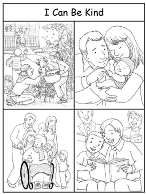 lds coloring pages kindness i can be kind coloring sheet