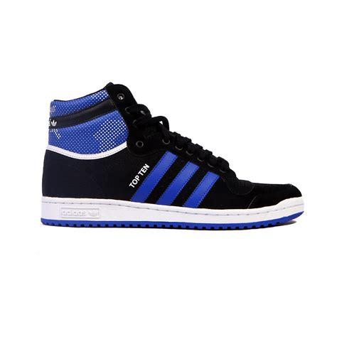 Adidas Top adidas top ten hi blue black white s shoes s86001 ebay