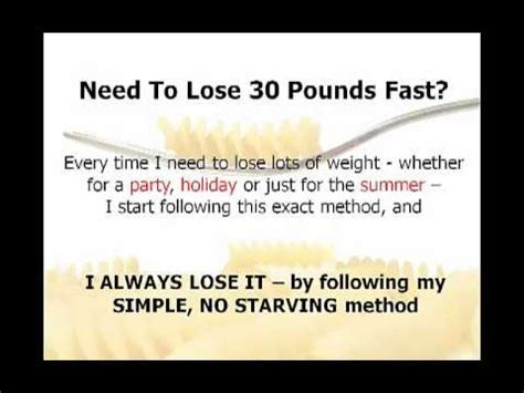 how to lose 30 pounds unbelievably simple 7 day weight