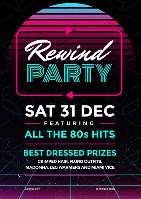 retro 80s party retro party 80s