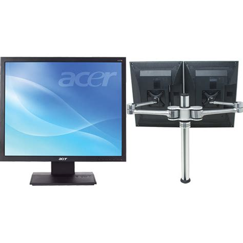Monitor Lcd Acer V173 acer v173 bb 17 quot lcd dual monitors with articulating arm