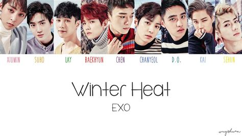 exo winter 엑소 exo winter heat color coded han rom eng lyrics