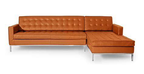 leather sofa or fabric sofa better kardiel florence knoll style right sectional sofa home
