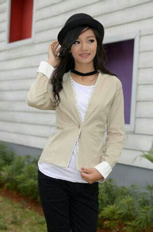 desain jaket wanita korea baju jaket blazer wanita korea desain cantik model terbaru