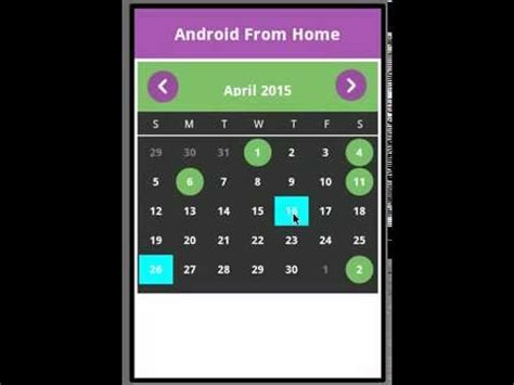 android calendar youtube