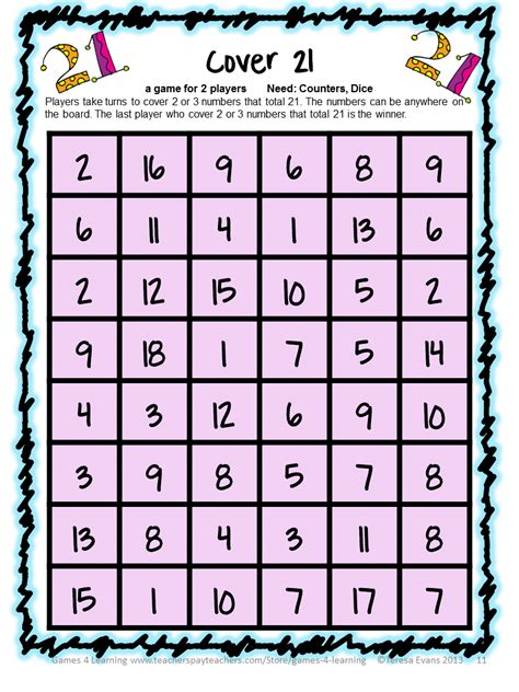 printable math division board games fun games 4 learning september 2013