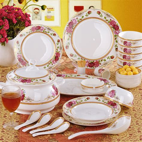 Set Pink Flowery bone china dinnerware and tea cup set my delicacy