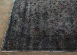 Overdyed Grey Rug rugsville grey overdyed 12264 wool rug rugsville co uk