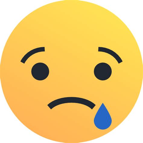 emoji sedih sedih emo emoticon wajah ikon gratis dari reactions icons