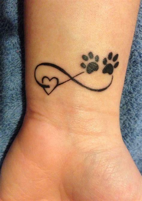 dog footprint tattoo stunning paw and shape design march