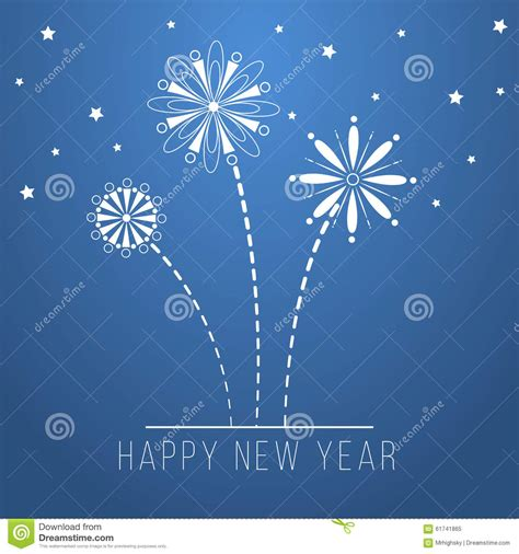 blue new year blue happy new year design stock illustration image