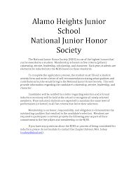 national honors society essay sle does my njhs essay look quora