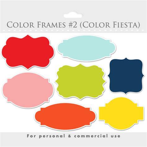 color frame color frames clipart collection