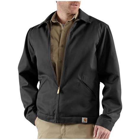 mens jackets s carhartt 174 twill work jacket 227222 insulated