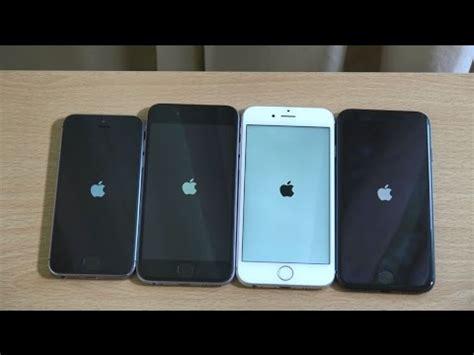 apple iphone 7 vs iphone 6s vs iphone 6 vs iphone 5s ios 10 speed test
