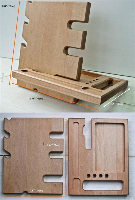 Wooden Desk Accessories by Wooden Stand Desk Accessories Wood Iphone Dock