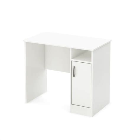small work desk south shore axess small desk in white 7250075