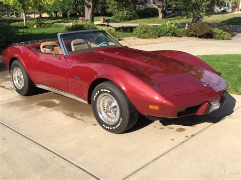 1975 L82 Corvette Convertible 4 Speed Matching Numbers 3rd Owner Ac No Reserve Corvette Trader Used Corvettes For Sale