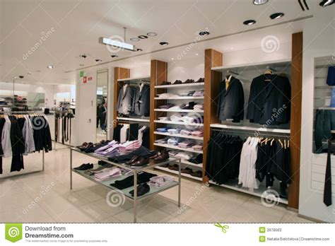 mens shop by clothing shop stock image image of person selling