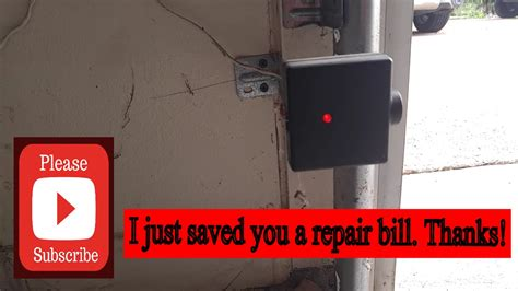 genie silentmax 1000 flashing red light genie garage door opener not closing easy fix youtube