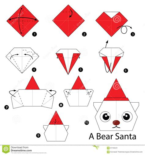 How To Make Origami Santa - step by step how to make origami santa