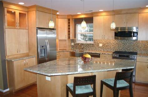 diagonal island simple kitchen design