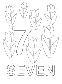 coloring page of the number 7 number coloring pages mr printables