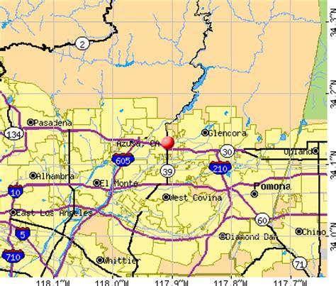 azusa zip code map azusa california ca 91010 91702 profile population
