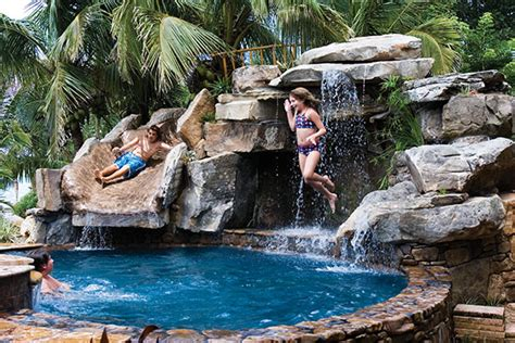 backyard pools with waterfalls front yard water feature with backyard pool remodel with