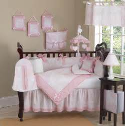 Baby Crib Set Pink And White Toile Baby Crib Bedding 9pc