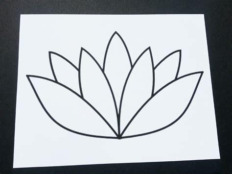 lotus flower template lotus flower sand painting