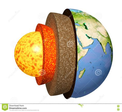 parte interna della terra struttura della terra illustrazione di stock