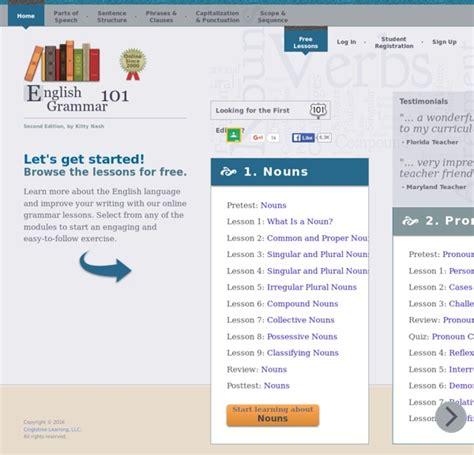 online tutorial english grammar english grammar 101 online grammar lessons pearltrees
