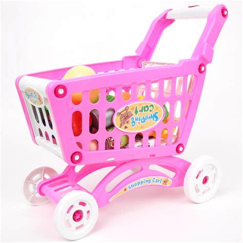 Mainan Jualan Supermarket Shopping plastik musik anak keranjang belanja mainan supermarket