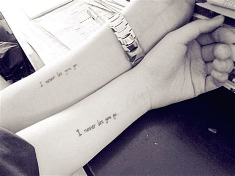 matching love quote tattoos for couples ideas