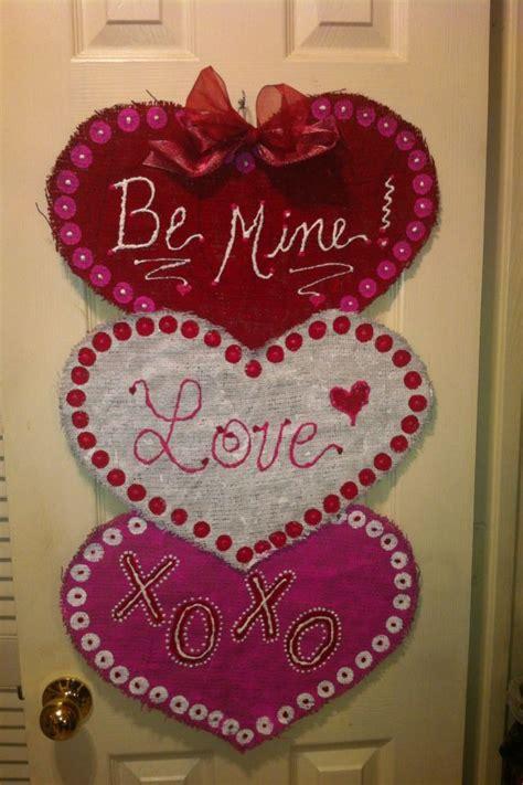 valentines door hanger burlap door hanger burlap door hangers