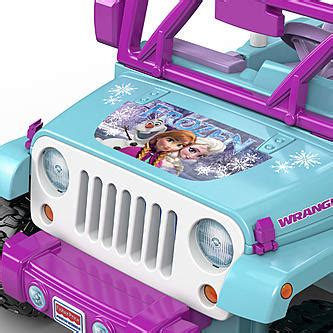 power wheels jeep frozen power wheels 12v jeep wrangler disney frozen