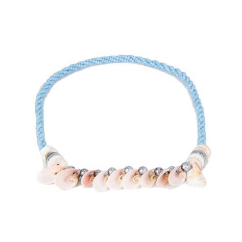 Kalung Kerang Handmade kalung kulit kerang biru muda
