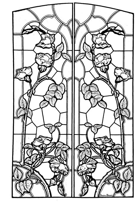 nouveau coloring book free coloring page coloring stained glass drawing