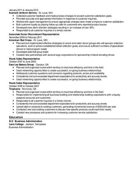 2015 revised sales and customer service resume