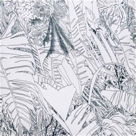 black and white jungle wallpaper jungle black wall coverings wallpapers from petite