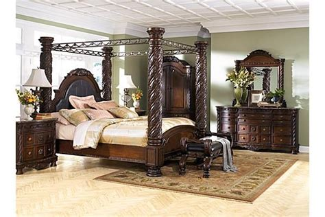ashley north shore poster bedroom set ashley furniture westfield master bed bath pinterest