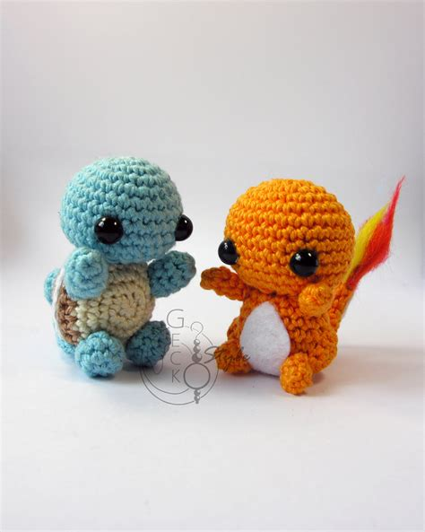 amigurumi squirtle pattern chibi squirtle and chamander amigurumi by lefay00 on