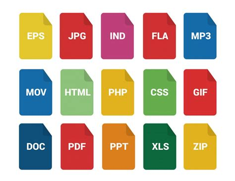 format file data types file formats icons 30 free icons svg eps psd png files