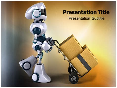 robotics themes for powerpoint robot powerpoint template free bountr info
